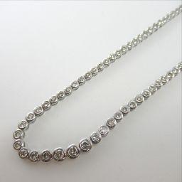 SELECT JEWELRY  テニスネックレス ネックレス 28.4g Pt900 ダイヤモンド5.36ct レディース【901】