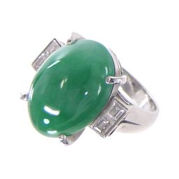 SELECT JEWELRY ring · ring 10.1g Pt 900 jade 10.27ct diamond 0.42ct 13 number ladies 【901】