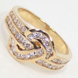 SELECT JEWELRY  リング・指輪 4.7g K18 ダイヤモンド0.75ct 14号 レディース【912】