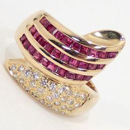 SELECT JEWELRY  リング・指輪 6.1g K18 ルビー1.18ct ダイヤモンド0.20ct 12号 レディース【912】