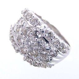 SELECT JEWELRY Ring / Ring 13.2g Pt900 Diamond 2.00ct 17.5 No. Ladies [002]