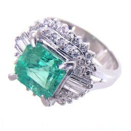 SELECT JEWELRY Ring / Ring 10.0g Pt900 Emerald 2.357ct Diamond 0.67ct 13 Ladies [001]