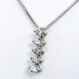 VANDOME Nendoroid Necklace 3.2g Pt950 / pt850 Diamond 0.30ct Ladies [003]