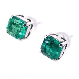 SELECT JEWELRY Earrings 2.1g Pt900 Emerald 0.915ct0.853ct Ladies [004]