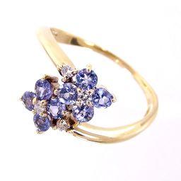 SELECT JEWELRY Flower Motif Ring / Ring 2.2g K18 Tanzanite Diamond 0.06ct No. 14 Ladies [004]