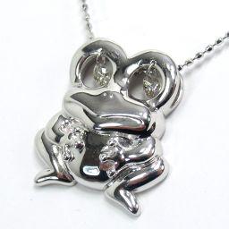 SELECT JEWELRY Frog motif necklace 4.1g 750 (K18) 0.16ct diamonds Ladies [004]