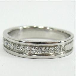 Courreges Kureji ring · ring 4.2g Pt950 Diamond 0.15ct 8 ladies [906]