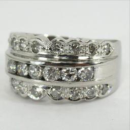 SELECT JEWELRY  リング・指輪 9.1g Pt900 ダイヤモンド1.01ct 14号 レディース【906】