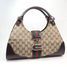 GUCCI Gucci 130995 Sherry Handbag GG Canvas Ladies [107]