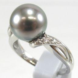 SELECT JEWELRY  リング・指輪 6.9g Pt900 パール10mm ダイヤモンド0.04ct 15号 レディース