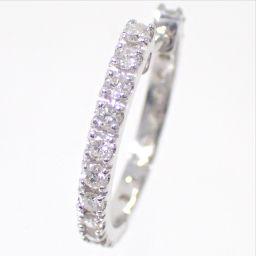SELECT JEWELRY  フープ ピアス 1.7g K18WG ダイヤモンド0.50ct レディース【901】