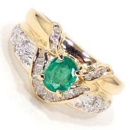 SELECT JEWELRY  リング・指輪 5.0g K18 エメラルド0.53ct ダイヤモンド0.40ct 9.5号 レディース【004】