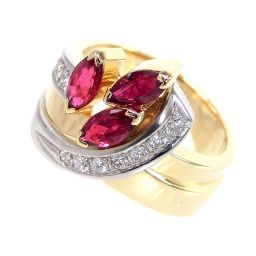 SELECT JEWELRY  翁淳デザイン リング・指輪 8.1g K18/Pt900 ルビー0.86ct ダイヤ0.14ct 11号 レディース【004】