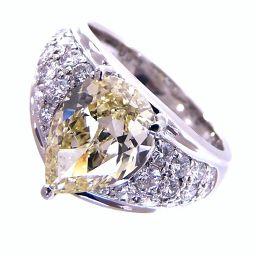 SELECT JEWELRY  ペアシェイプ リング・指輪 8.5g Pt900 ダイヤ2.40ct0.63ct 11.5号 レディース【004】