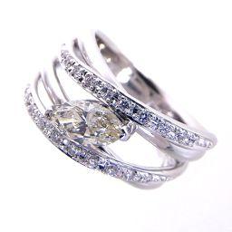 SELECT JEWELRY  透かしデザイン リング・指輪 12.7g Pt900/ダイヤモンド ダイヤ0.592ct0.20ct 12号 レディース【004】
