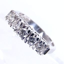 SELECT JEWELRY one-letter design ring · ring 5.4g Pt 900 diamond 0.44ct 12.5 ladies 【1809】 【20mrt】