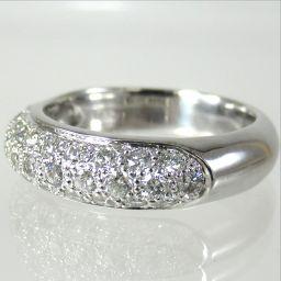 SELECT JEWELRY ring · ring 7.3g K18WG diamond 0.82ct 12 number ladies 【1809】 【20mrt】
