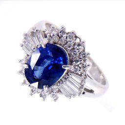 SELECT JEWELRY  リング・指輪 5.6g Pt900 サファイア1.31ct ダイヤ0.35ct 8.5号 レディース【1810】