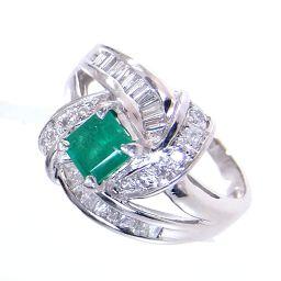 SELECT JEWELRY  リング・指輪 6.3g Pt900 エメラルド ダイヤ 11.5号 レディース【1811】