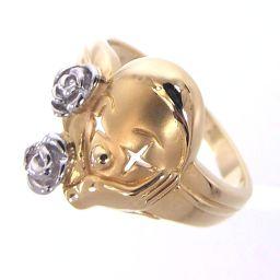 SELECT JEWELRY clown design ring, ring 4.4g K18 / Pt900 11.5 ladies [911]