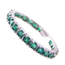 SELECT JEWELRY Full Eternity Rings & Rings 1.8g K18WG Emerald 1.00ct 13 Women's [911]