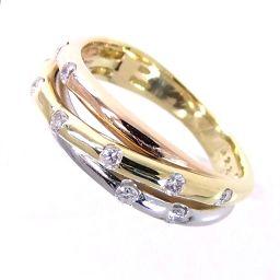 SELECT JEWELRY  スリーカラー リング・指輪 5.0g K18/Pt900 ダイヤ0.23ct 9.5号 レディース【006】