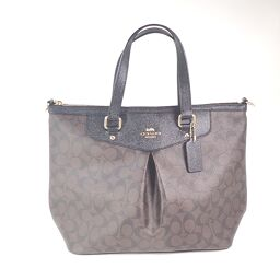 COACH Coach F34614 2WAY tote bag with strap PVC coated canvas Ladies [109]