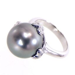 SELECT JEWELRY Ring / Ring 9.4g Pt900 Pearl Diamond 0.15ct 11 Ladies [001]