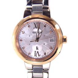 SEIKO セイコー SSVW068 電波ソーラー ルキア 腕時計 41.8g SS レディース