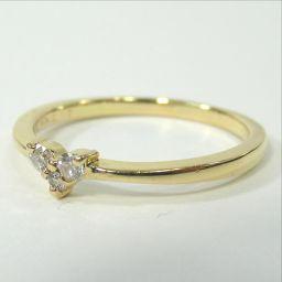 ete エテ ハート リング・指輪 1.8g K18 ダイヤモンド0.07ct 11号 レディース【903】