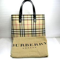 BURBERRY バーバリー トートバッグ 478g PVCキャンバス レディース【911】