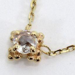 agete Agat 10183116039 Necklace 0.7g k10 Diamond 0.04ct Ladies [910]