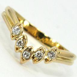 SELECT JEWELRY  リング・指輪 1.5g K18 ダイヤモンド5石 5号 レディース【907】