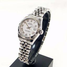 ROLEX ロレックス 179174 ランダム ルーレット デイトジャスト 腕時計 ステンレススチール/K18WG レディース