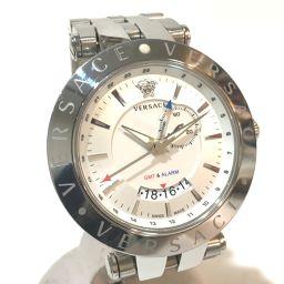 VERSACE ヴェルサーチ   29G99D001S099 メンズ腕時計 Vレース GMT メデューサ 腕時計 SS シルバー メンズ