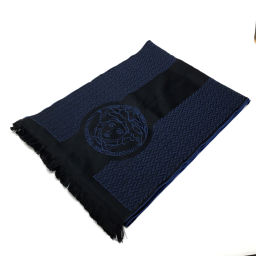 VERSACE Versace logo Medusa Men's Women's Muffler Wool / Blue Women