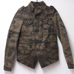 ZARA Zara camouflage camouflage BASIC Basic apparel outerwear military jacket khaki women's [pre-owned]