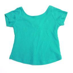ZARA Zara short sleeve T-shirt cropped short sleeve shirt green women's new [pre-owned]