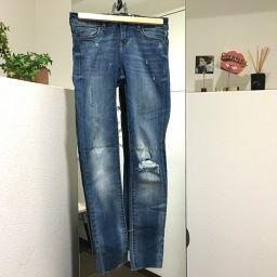 ZARA Zara Apparel Damaged Jeans Denim Pants Blue Women