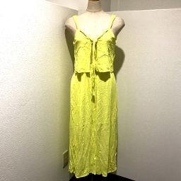 ZARA Zara Long Sleeveless V-neck T-tag One-piece Yellow Women