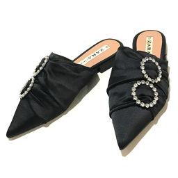 Zara zara bijou apparel sandals satin black ladies