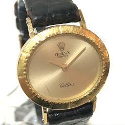 ROLEX ロレックス   レディース腕時計 チェリーニ  cal.1600 金無垢 腕時計 K18YG/革ベルト イエローゴールド レディース