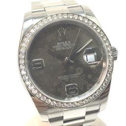 ROLEX ロレックス  116244 メンズ腕時計 デイトジャスト ダイヤベゼル V番  ブロンズフラワー 腕時計 SS/WG/ダイヤモンド シルバー メンズ【中古】