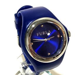 FURLA フルラ   レディース 腕時計 ベルト 腕時計 SS/ラバー シルバー×ブルー レディース