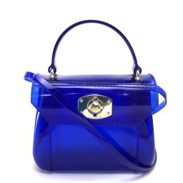 FURLA Furla 2WAY Handbag Candy Shoulder Bag Rubber Blue x Gold Hardware Ladies