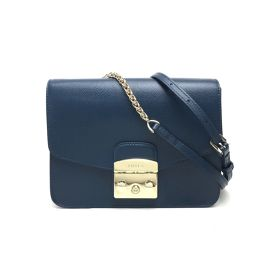 FURLA Furla Metropolis Shoulder Bag Leather Blue Series Ladies