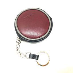 FURLA フルラ   メンズ レディース 丸型 財布 小銭入れ キーリング付 コインケース レザー ボルドー系 レディース
