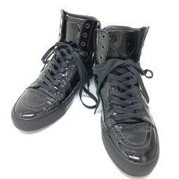 YVES SAINT LAURENT イヴ・サンローラン   249518  ハイカットスニーカー 靴 ハイカットスニーカー YSL スニーカー パテントレザー/ ブラック メンズ