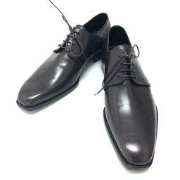 LOEWE ロエベ   ビジネスシューズ 革靴 レザーシューズ レザー ダークブラウン メンズ