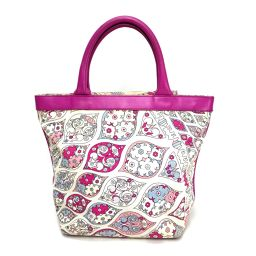 Emilio Pucci Emilio Pucci Tote Bag Full Pattern Handbag Canvas × Leather Pink Women